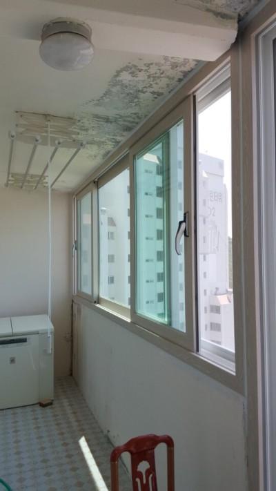 울산샷시북구  중산동에 위치한 벽산타워아파트 하이샤시교체