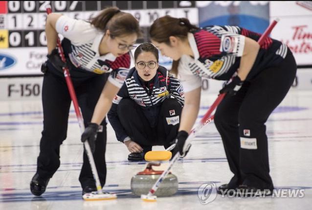 여자 컬링, 세계선수권서 5승 1패 기록
