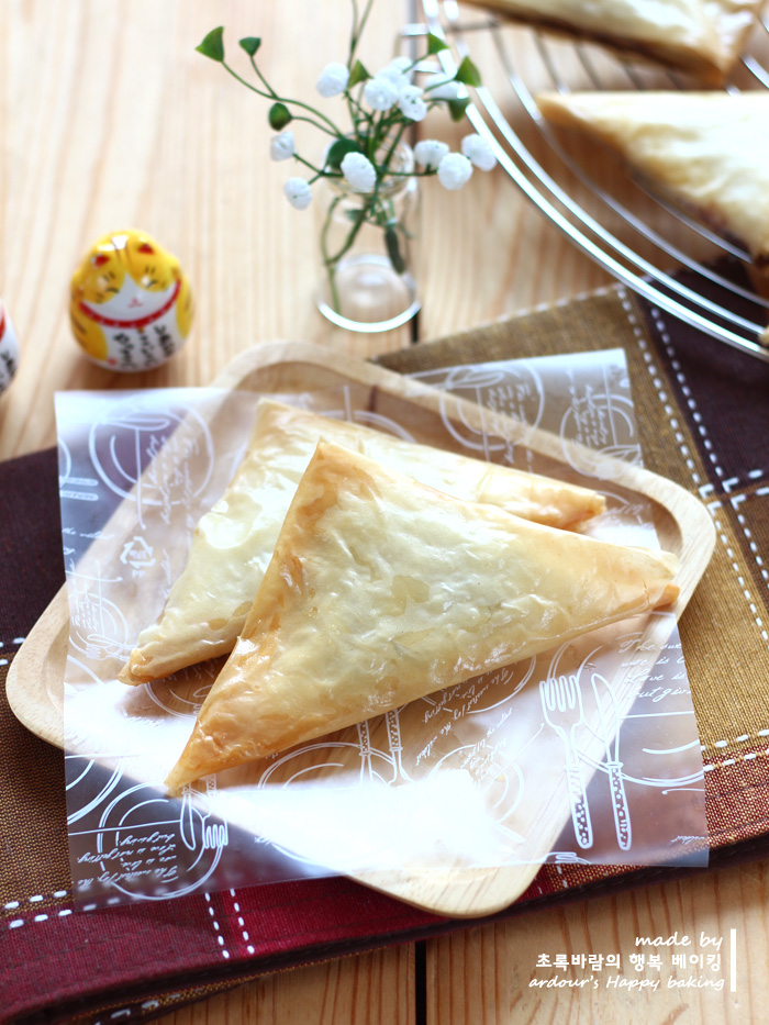 초콜릿 파이 만들기  ::  필로페스트리로 만드는 간단한 디저트