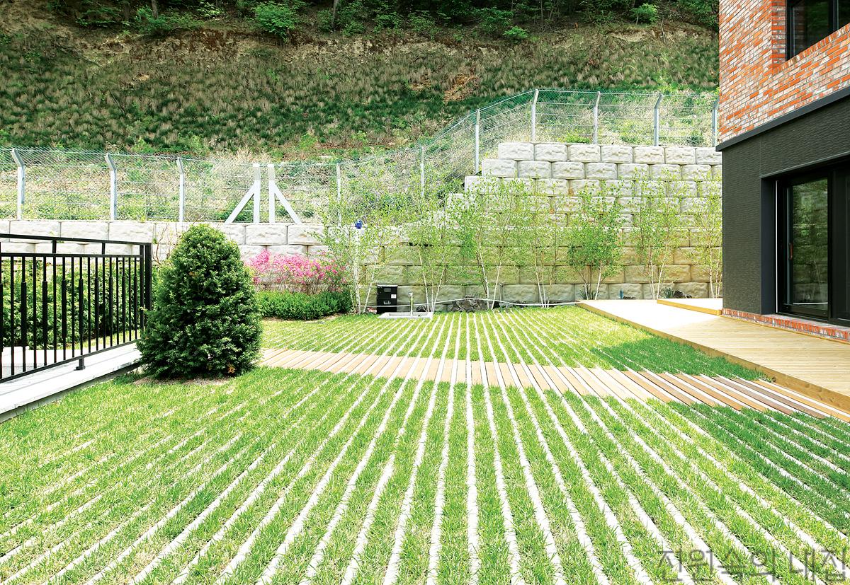 녹지율 67%, 신개념 정원 '잔디블록'