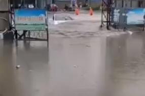 테슬라, '모델 3'  中 폭우 속 보트로 변신?