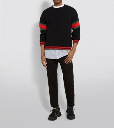 구찌 캐시미어 케이블 스웨터 / 2컬러