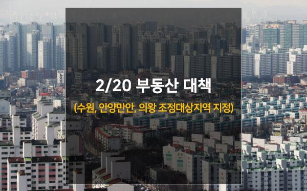 2·20 부동산 대책(수원, 안양만안, 의왕 조정대상지역 지정)