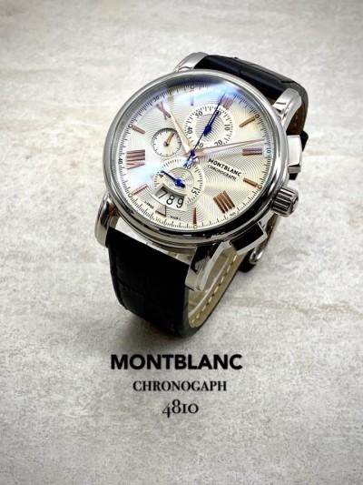 몽블랑 4810 크로노그래프 가죽 시계