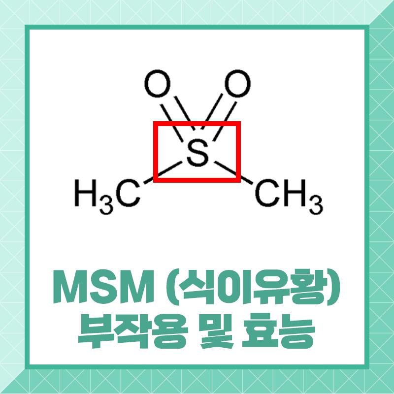[뼈/관절 영양제1]MSM 식이유황 부작용 및 효능