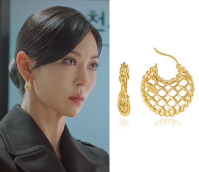 펜트하우스 9회 속 천서진 귀걸이는 이에르로르! 김소연 패션 짱!